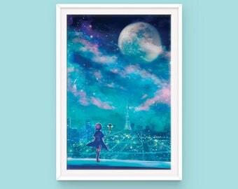 Cardcaptor Sakura Poster, Sakura Kinomoto, Kero, Clamp, Anime Poster, Anime Scenery, CCS poster
