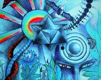 Merkaba Healing-Art print