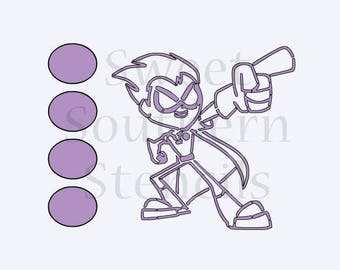 Teen Superhero PYO Cookie Stencil