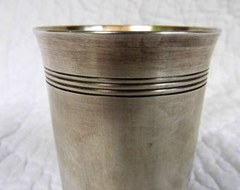 Christofle silver-plated baby Cup. Art deco.
