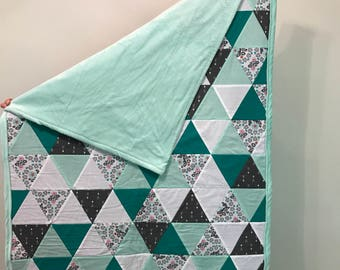 Green Triangle Quilt