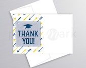 Graduation Party, Thank You Note, Thank You Card, Class of 2018, College Graduation, Grad Party, High School Grad, Matching Thank You