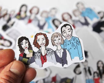 Stickers custom portrait / portrait sticker personalized / Custom portrait / ~ 4x8cm / gift idea for friends, family!