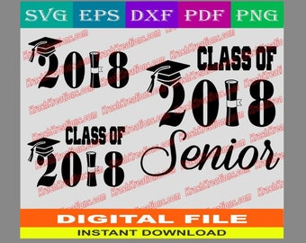 Class of 2018 Senior with diploma SVG Cut file