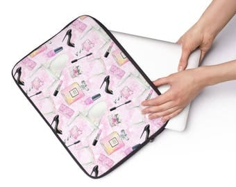 Laptop Sleeve Makeup Beauty Pattern  - Available in 3 sizes