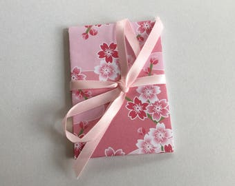 Pink Origami gift card holders with ribbon, money pouch, business card holder, envelope, cherry blossom