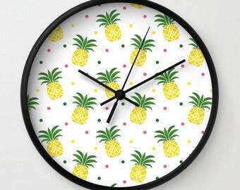 Pineapple wall clock Etsy