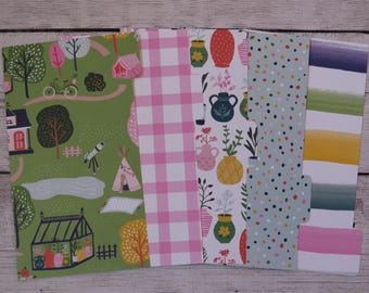 Glamping - Planner Dividers - Personal Dividers - Divider Set
