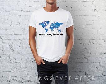 JW | Unisex | Tee Shirt | Here I am Send Me | Pioneer School Gift | Pioneer gift | JW | SKE Gift Present Jw Org ske