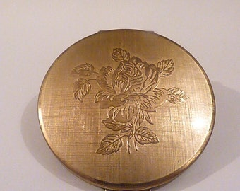 """Vintage powder compacts vintage Stratton compact Stratton """"Shell-Convertible"""" powder compact enamel compacts compacts for sale purse mirror"""