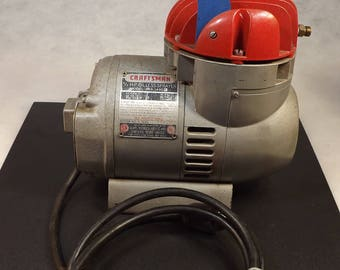 Craftsman 1/3 hp oiless spayer compressor 1950's Works Great