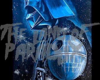 Darth Vader Metallic Print of Original Artwork