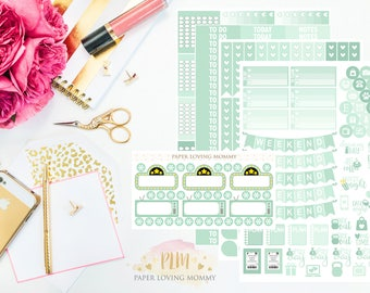 March Monthly Kit Stickers | Planner Stickers | Planner Stickers designed for use with the Erin Condren Life Planner