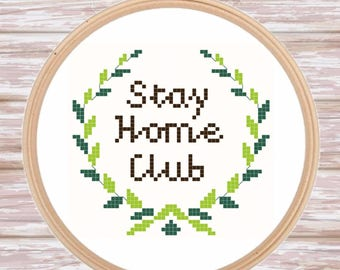 Stay Home Club Pattern