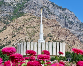 Photo LDS Provo Temple Summertime