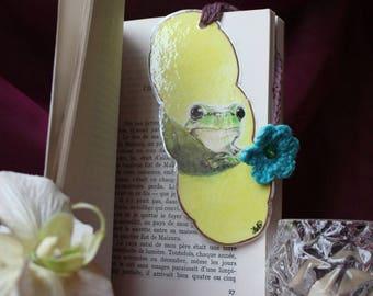 Bookmark original hand drawn frog