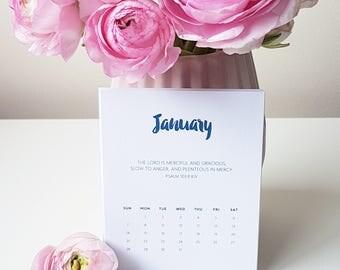 Luxury Linen Bible Verse - Psalms Desktop 2018 Calendar