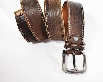 Vintage Dressmaster Mens Leather Belt Brown