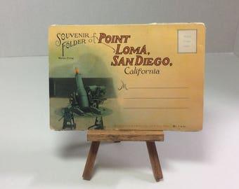 Vintage Postcard Souvenir Folder San Diego Point Loma California 1920s