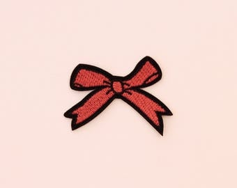 Bow embroidered patch, Iron on Patch, Thermo-adhesive