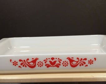 Vintage Pyrex Friendship Pattern 933 Lasagna Pan