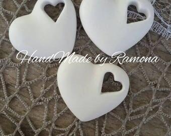 24 PCs scented heart chalks, place card wedding, baptism, communion, wedding favors
