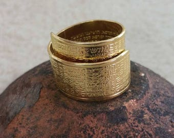 A Kabbalah Ring for Healing with one of 72 names of G-d for healing, engraved with the whole prayer for health