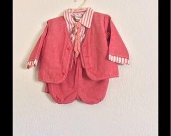Vintage Baby Clothes| Infant 2 Piece Suit| Easter Suit| Christmas Suit| Forma\ Infant Suit| Infant Boys Suit| Paperboy Suit| Infant Set