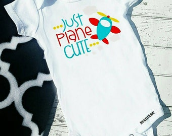 Just Plane Cute, Boy Bodysuit tshirt clouds planes Bold colors Summertime  Vacation Shirts, Water