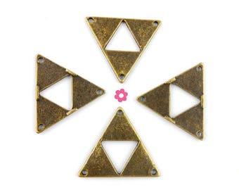x 4 bronze triangle chandelier 30x26mm (28 d)