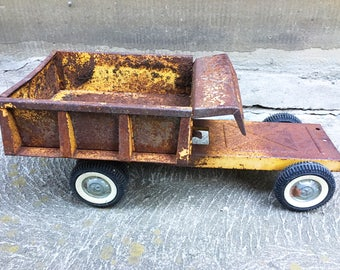 Vintage Truck Hand Painted Nylint Flatbed Of Truck Toy Truck Decorative Sculpture Planter