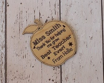 Best Teacher/Teaching Assistant Personalised Apple Coasters