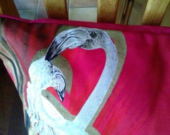 Flamingo cushion/pillow