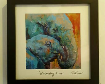 Nurturing Love Framed and Hand Signed Print