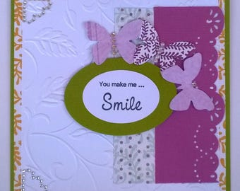 Card | You Make Me Smile (butterflies)