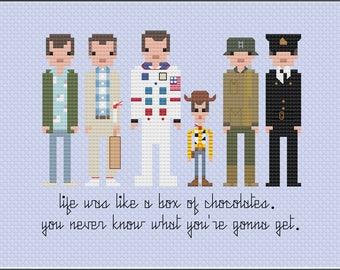 8-Bit Wonder - Tom Hanks PDF Cross-Stitch Pattern