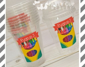 Back to School Favor Cups with Dome Lids or Party Cups, Lids & Straws