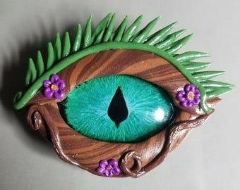 Forest dragon eye pendant