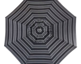 10 Foot Cantilever Off Set Octagon Sunbrella Umbrella - Model# HWUA619 - Free Shipping - GRANITE GRAY STRIPE