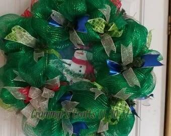 Snowman Wreath #005