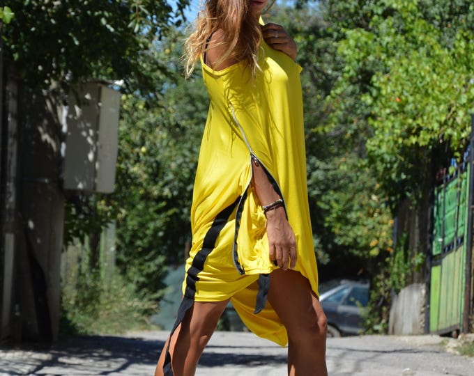 New Oversize Loose Top, Asymmetric Maxi Tunic, Summer One Size Blouse, Casual Long Sleeves Tunic by SSDfashion