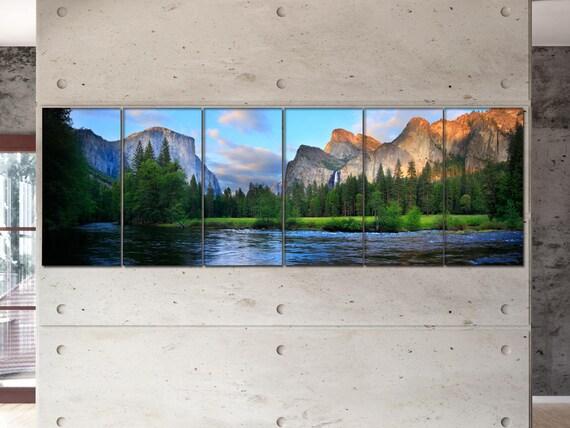Yosemite Nation Park panorama  canvas Yosemite Nation Park wall decoration Yosemite canvas art large canvas  wall decor