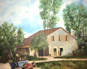 Farm Life Oil on Canvas