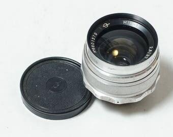 Mir-1 Grand Prix Brussels 1958 2.8/37 M39 to M42 SLR wide angle lens. 37mm f2.8 Soviet vintage lens. Canon, Sony Zenit, Pentax. EXCELLENT++