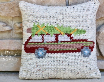Crochet Pattern, Christmas crochet pattern, crochet throw pillow pattern, crochet pillow pattern, crochet pillow cover, SUTTON PILLOW