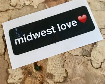 Midwest Love sticker
