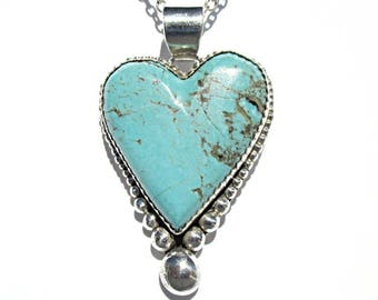Heart Pendant with silver balls