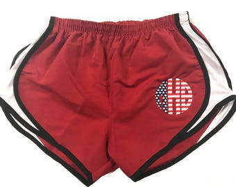 SALE! Flag Monogrammed Athletic Shorts!