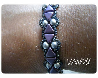 Bracelet with KHEOPS® purple and silver