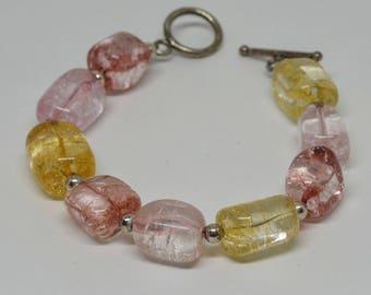 Lovely Lucite glass Beaded Bracelet
